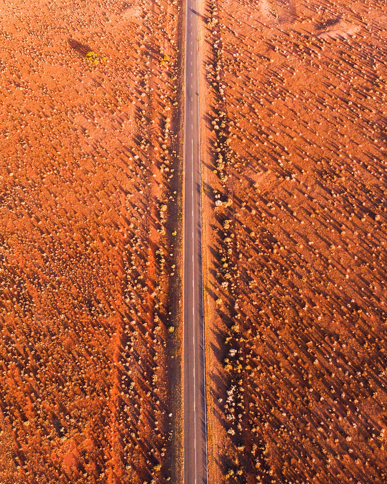 broken hill road sunrise aerial outback nsw new south wales australia