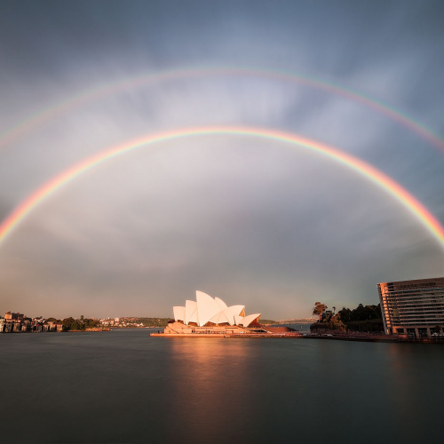 Double Rainbow Sydney Opera House New South Wales Australia