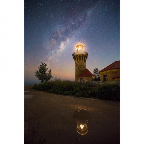 Barrenjoey Lighthouse Reflection Milky Way Astro Palm Beach Sydney Australia