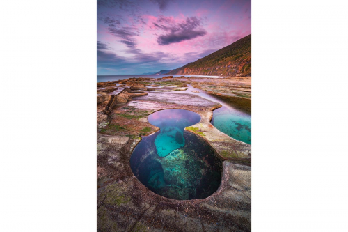 Figure 8 Pool Royal National Park Sydney New South Wales Australia Nature Formation Seascape Ocean Sunrise